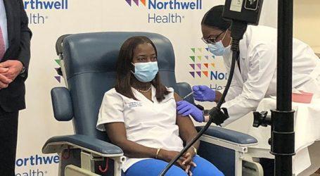 Μια νοσηλεύτρια στη Νέα Υόρκη, η πρώτη που έκανε το εμβόλιο κατά του Covid-19