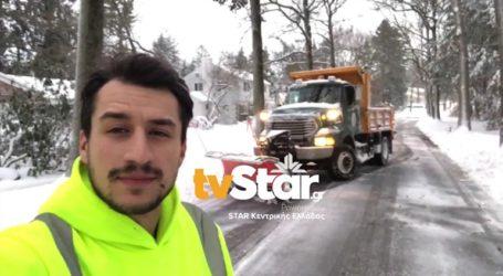 Ο Ευρυτάνας που καθαρίζει την Νέα Υόρκη από το χιόνι