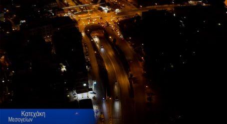 Η νυχτερινή Αθήνα από ψηλά