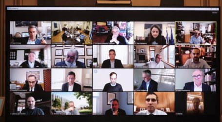 Τηλεδιάσκεψη Μητσοτάκη με στελέχη εταιρειών του κλάδου της βιοφαρμακευτικής