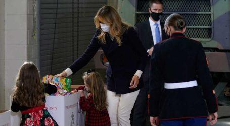 Melania Trump: Η εντυπωσιακή εμφάνιση με καρό γόβες Manolo Blahnik