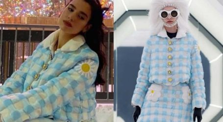 Dua Lipa: Με outfit εμπνευσμένο απο τη δεκαετία του '60 ποζάρει στη χιονισμένη Νέα Υόρκη!