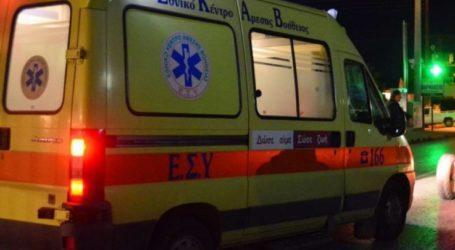 Κοπέλα τραυματίστηκε σε τροχαίο στη Λάρισα το βράδυ της Παρασκευής