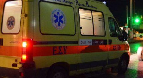 """Τροχαίο έξω από τον Τύρναβο – Αυτοκίνητο που οδηγούσε γυναίκα """"καρφώθηκε"""" σε κολόνα"""