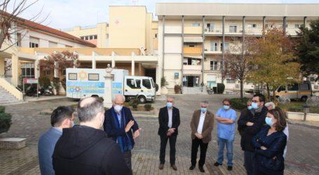 Επίσκεψη Καλογιάννη στα δυο Νοσοκομεία της Λάρισας – Τα θέματα που έθεσε – Τι δωρεά έκανε η ΔΕΥΑΛ σε ΓΝΛ και ΠΓΝΛ (φωτο)