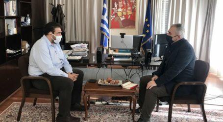 Χαρακόπουλος με Λιβάνιο: Δέσμευση για επιπλέον χρηματοδότηση έργων στα Φάρσαλα