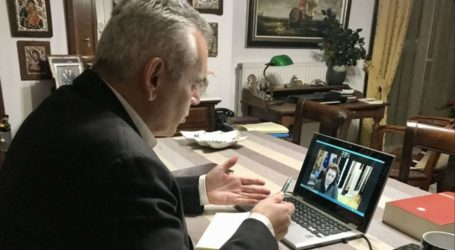 Χαρακόπουλος με Μενδώνη: Επαναπατρισμός στη Λάρισα των τοιχογραφιών Παντόλφη – Τι πρότεινε για Πύργο Χαροκόπου