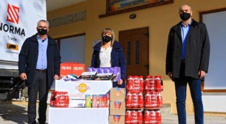 Προσφορά τροφίμων στο Κοινωνικό Παντοπωλείο του Δήμου Ελασσόνας