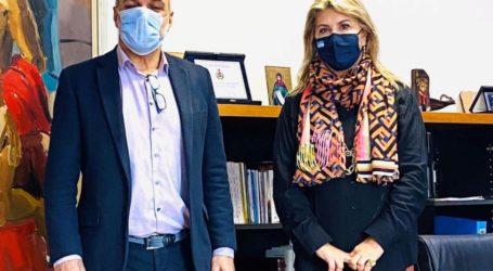 Συνεργασία Ζέττας Μακρή με Β. Χατζηκυριάκο για δωρεά ιδρύματος Μελά και ΓΕΛ Αλμυρού