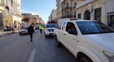 Πορεία αγροτών με οχήματα στο κέντρο του Βόλου [εικόνες και βίντεο]