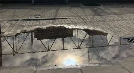 Λάρισα: Επικίνδυνη κακοτεχνία σε πολυσύχναστο πεζόδρομο στο Φρούριο (φωτο)