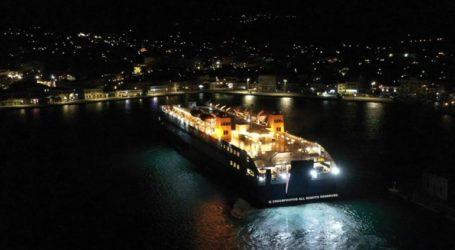 Το πλοίο Διαγόρας ήταν το πρώτο που έδεσε στο λιμάνι της Χίου για το 2021