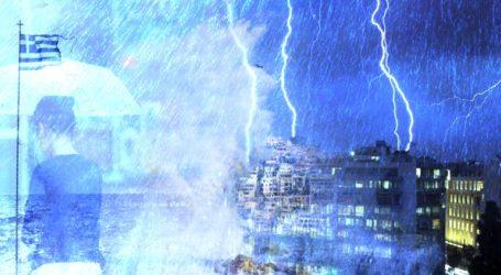 Μέτωπο ισχυρών καταιγίδων τη Δευτέρα