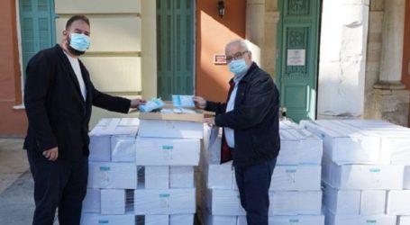 Προσφορά 80.000 μάσκες στην Περιφέρεια Κρήτης για τα εμβολιαστικά κέντρα