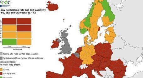 Οι «πράσινες» περιοχές της Ελλάδας στον Ευρωπαϊκό χάρτη του κορωνοϊού