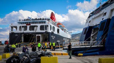 Πρόσκρουση φορτηγού οχηματαγωγού πλοίου στο λιμάνι της Μυτιλήνης