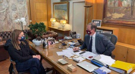 Συνάντηση Μπίζιου – Λιβανού στο υπουργείο Αγροτικής Ανάπτυξης