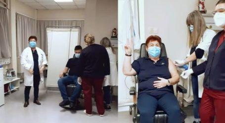 """Με στόχο να """"θωρακιστούν"""" 380 υγειονομικοί, συνεχίζεται ο εμβολιασμός στο Γενικό Νοσοκομείο Λάρισας"""