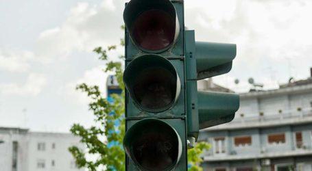 Πτώση σηματοδότη στον δρόμο Λάρισας-Καρδίτσας