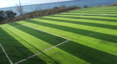 Η Περιφέρεια Θεσσαλίας βελτιώνει το γήπεδο της Άνω Γατζέας με τοποθέτηση νέου χλοοτάπητα