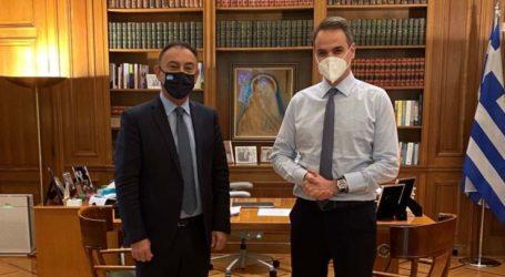 Με τον πρωθυπουργό Κυριάκο Μητσοτάκη συναντήθηκε ο Χρήστος Κέλλας