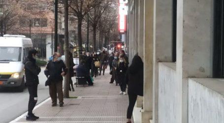 """Λάρισα: Από το πρωί ουρές στις τράπεζες με το """"καλημέρα"""" της εβδομάδας (φωτο)"""