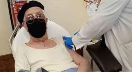 Γιώργος Ζηργάνος, ετών 97, ο πρώτος υπερήλικας που εμβολιάστηκε στη Μαγνησία