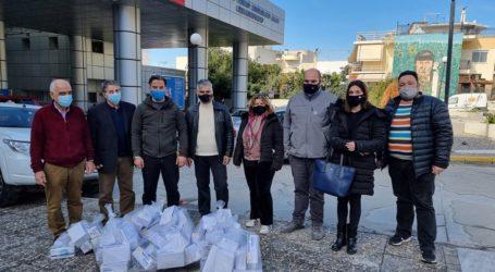 Βόλος: Σωματεία παρέδωσαν μάσκες σε Νοσοκομείο, Αστυνομία και Μητρόπολη