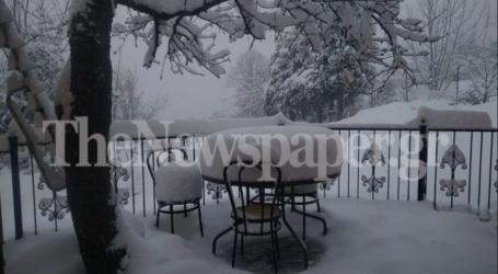 Στα 40 εκατοστά το χιόνι στο Πήλιο – Δείτε εικόνες από τον Κισσό