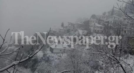 Συνεχίζεται η χιονόπτωση στη Μακρινίτσα [εικόνες και βίντεο]