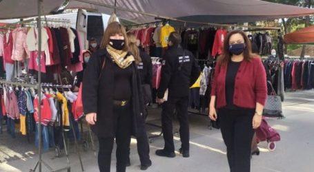 Έλεγχοι της Δημοτικής Αστυνομίας στη λαϊκή αγορά της Ν. Αγχιάλου