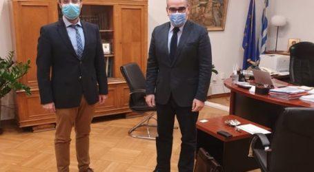 Συνάντηση του βουλευτή Κων. Μαραβέγια με τον αναπληρωτή υπουργό Υγείας Βασ. Κοντοζαμάνη