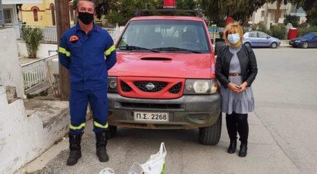 Στο πλευρό της κοινωνία οι Πυροσβέστες του Βελεστίνου