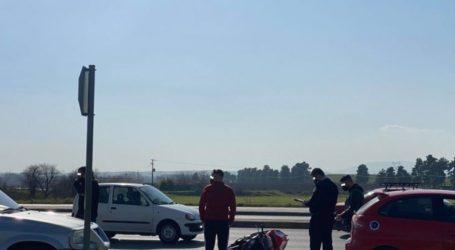 Λάρισα: Εκτροπή μηχανής μπροστά στο αισθητικό άλσος – Στο νοσοκομείο ο 29χρονος οδηγός (φώτο)