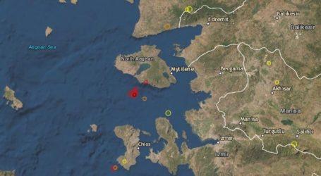 Σεισμός 3.8 Ρίχτερ δυτικά της Μυτιλήνης