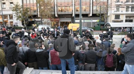 Συγκέντρωση διαμαρτυρίας στα Προπύλαια για τον Δημήτρη Κουφοντίνα