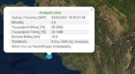 Σεισμός 4.1 Ρίχτερ κοντά στην Κέρκυρα
