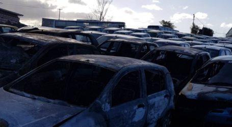 Στις φλόγες τυλίχθηκαν 12 ενοικιαζόμενα οχήματα στο Ηράκλειο