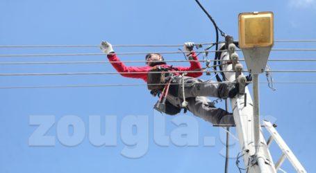 Σε εξέλιξη οι εργασίες αποκατάστασης του ηλεκτρικού στα Βριλήσσια