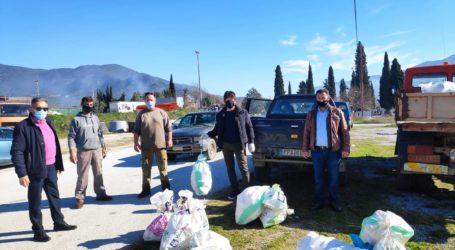 Συνέλεξαν κενές συσκευασίες φυτοφαρμάκων στο δήμο Τεμπών