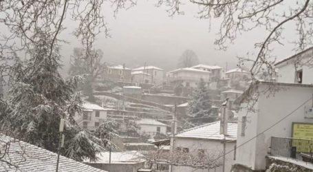 Χιονόπτωση στο Κεραμίδι και στα Κανάλια [εικόνες]