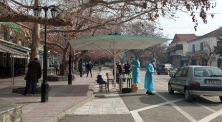 Συνεχίζονται τα τεστ κορονοϊού στο Δήμο Τεμπών