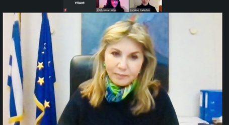 Τηλεδιάσκεψη Ζέττας Μακρή με τον επικεφαλής UNICEF Ελλάδος Luciano Calestini