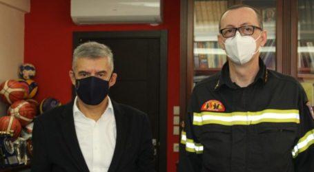 Στον Κ. Αγοραστό ο νέος Διοικητής της Πυροσβεστικής Υπηρεσίας Λάρισας Πύραρχος Σάββας Τσολάκης