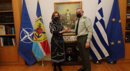 Συνάντηση Μπίζιου με τον Αρχηγό ΓΕΕΘΑ Κωνσταντίνο Φλώρο