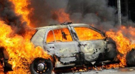 Συναγερμός στην Πυροσβεστική: Φλεγόμενο αυτοκίνητο εν κινήσει έξω από τη Λάρισα