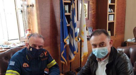 Συνάντηση Χρήστου Κέλλα με τον Αρχηγό του Πυροσβεστικού Σώματος