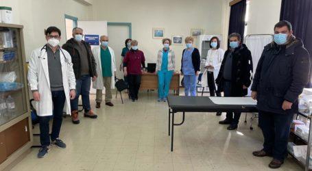 Το εμβολιαστικό κέντρο στο Κέντρο Υγείας Φαρσάλων επισκέφθηκε ο δήμαρχος Φαρσάλων
