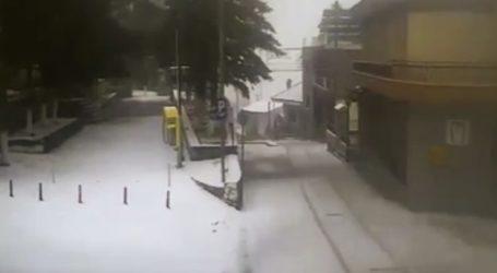 Ξεκίνησε χιονόπτωση και στην πόλη της Λάρισας – Χιόνι από τα ξημερώματα στα ορεινά (φωτό – βίντεο)