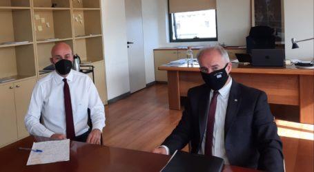 Συνάντηση Γ. Μανώλη με τον Υφυπουργό Περιβάλλοντος Γ. Αμυρά και εφ' όλης της ύλης συζήτηση